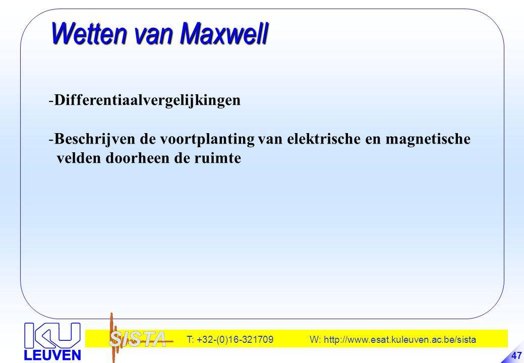Wetten van Maxwell Differentiaalvergelijkingen