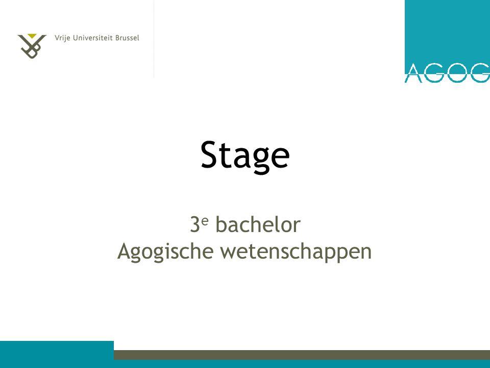 3e bachelor Agogische wetenschappen