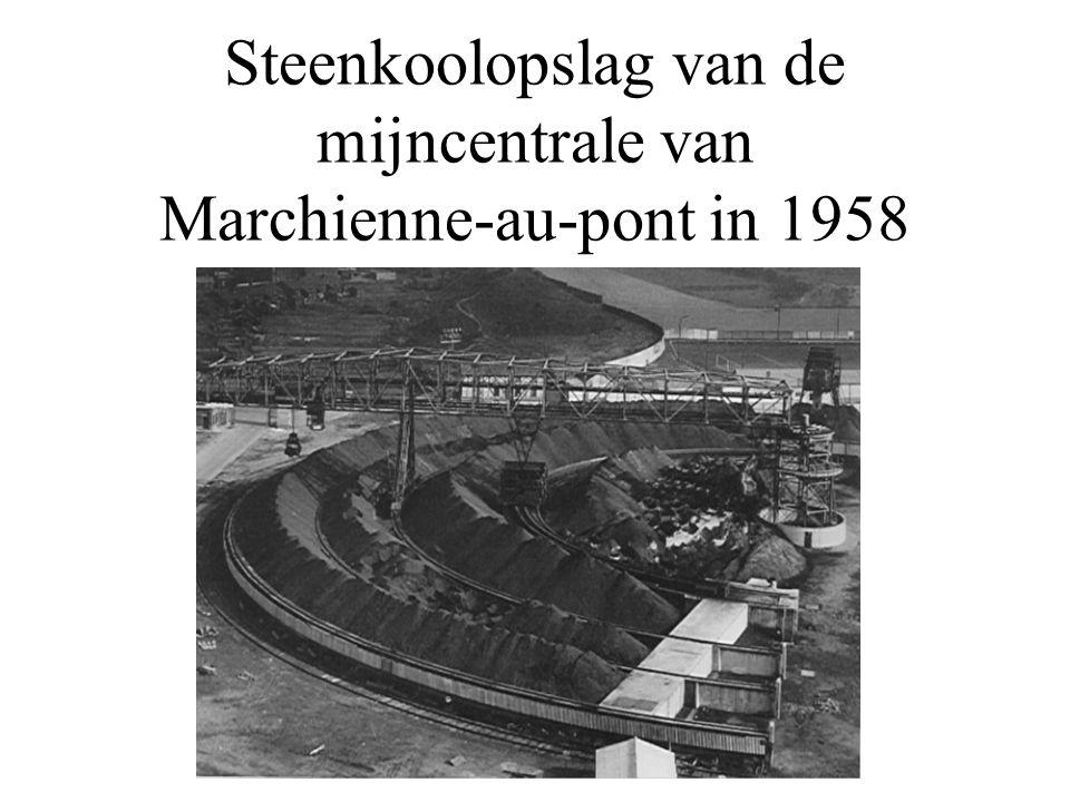 Steenkoolopslag van de mijncentrale van Marchienne-au-pont in 1958