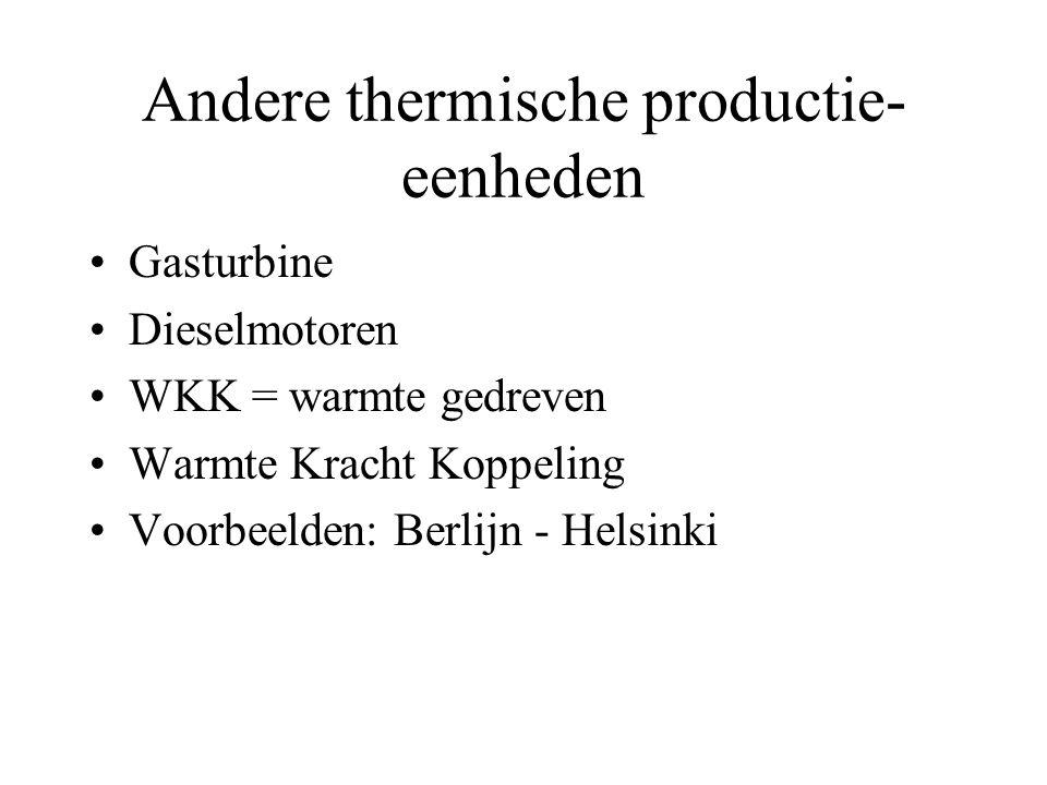 Andere thermische productie-eenheden