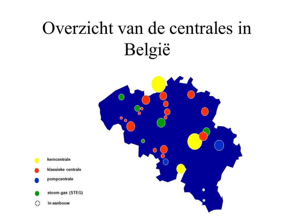 Overzicht van de centrales in België
