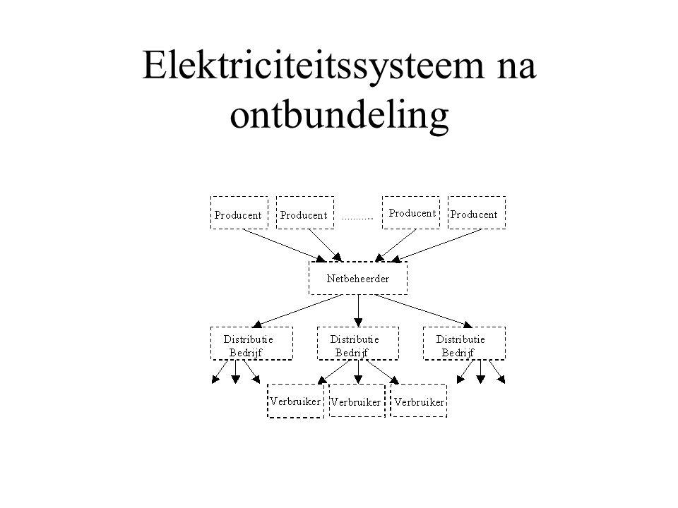 Elektriciteitssysteem na ontbundeling
