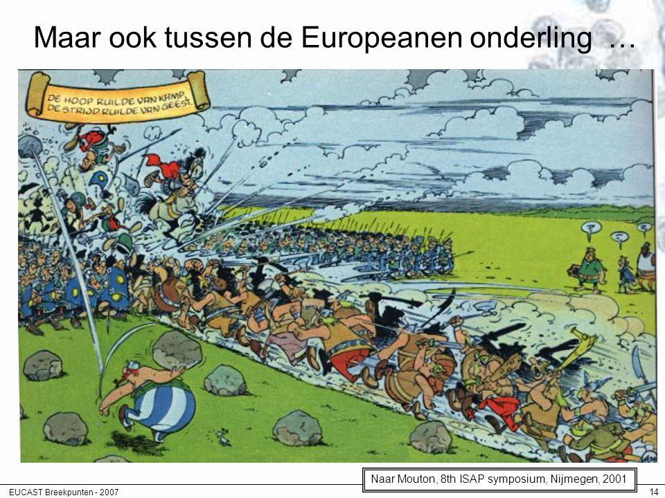 Maar ook tussen de Europeanen onderling …