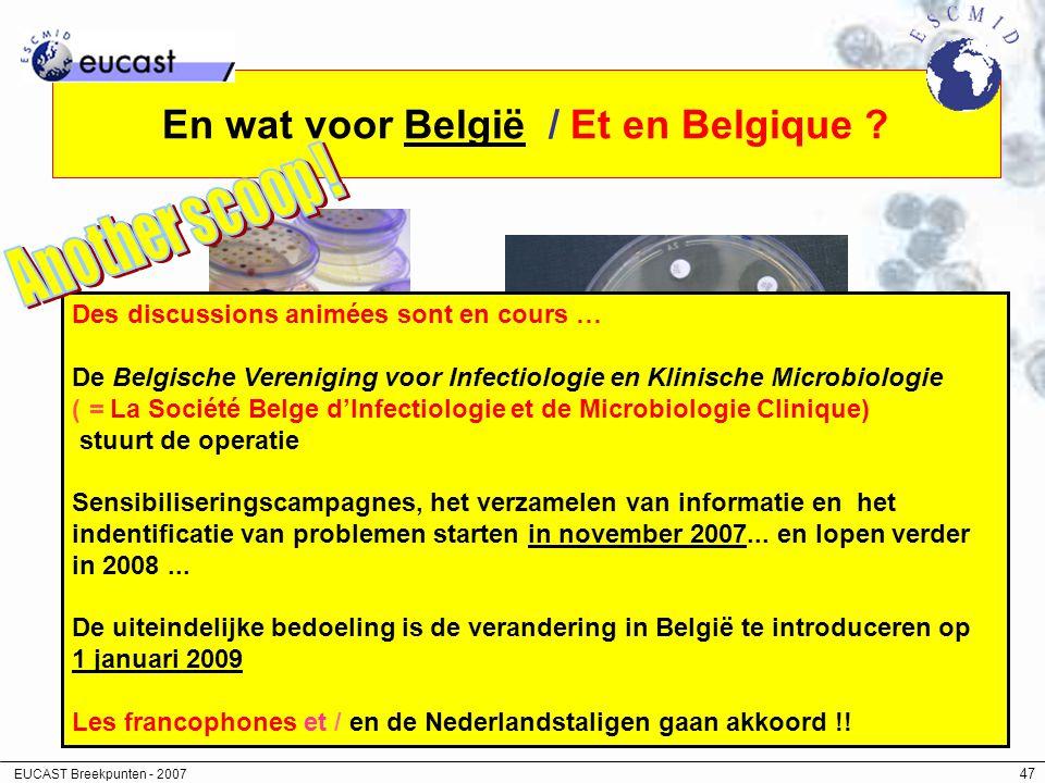 En wat voor België / Et en Belgique