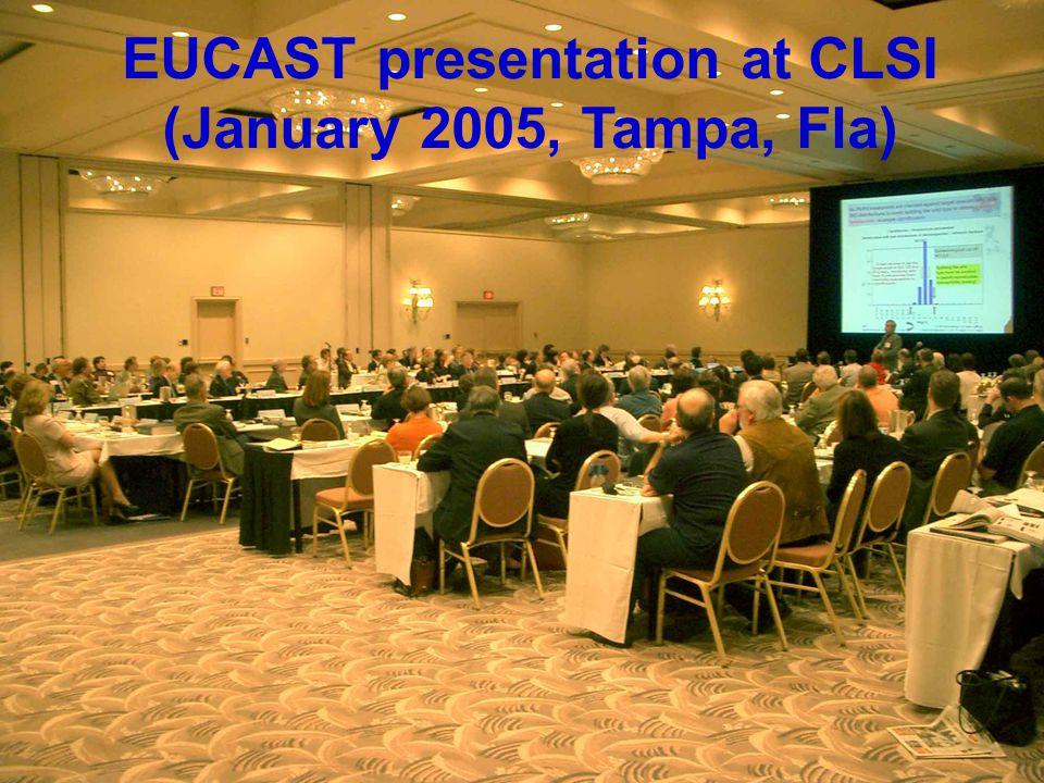EUCAST presentation at CLSI