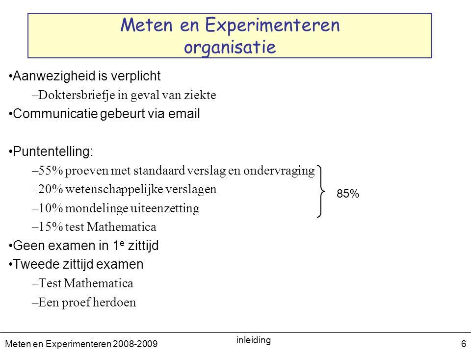 Meten en Experimenteren organisatie