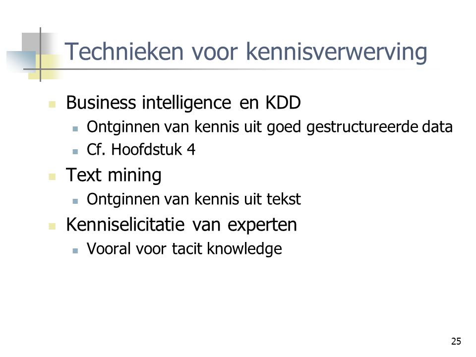 Technieken voor kennisverwerving