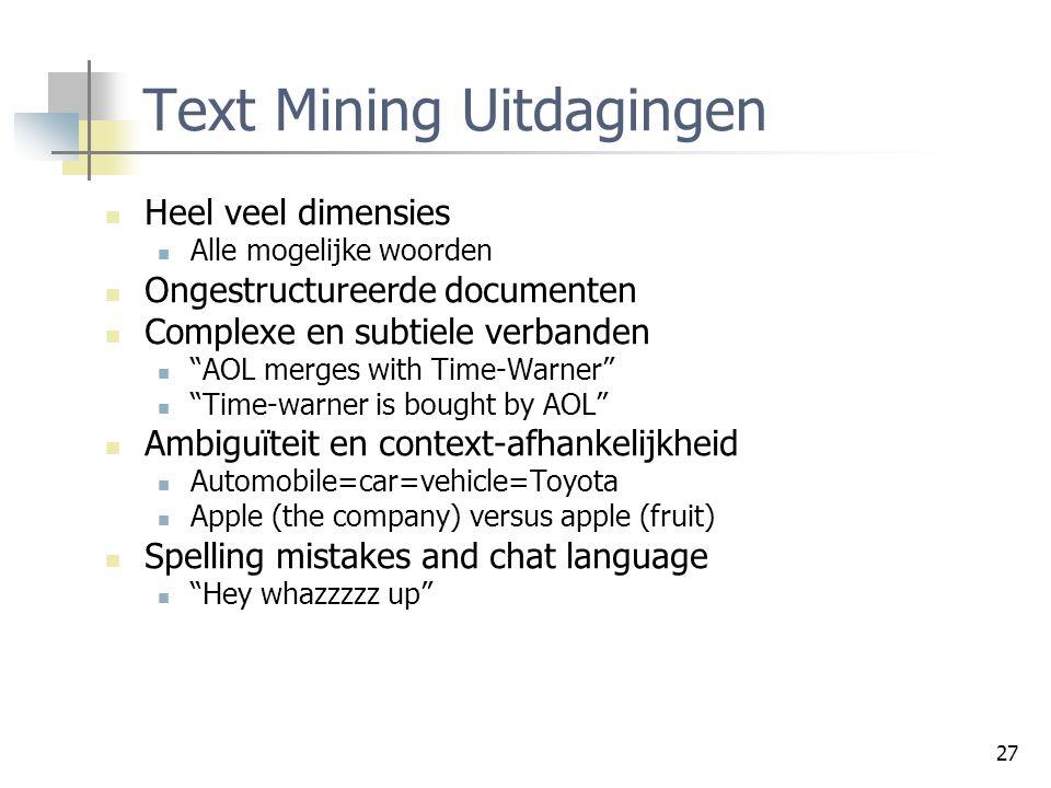 Text Mining Uitdagingen