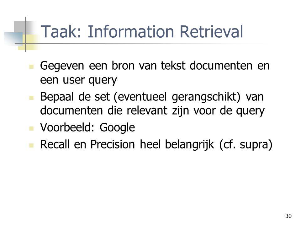 Taak: Information Retrieval