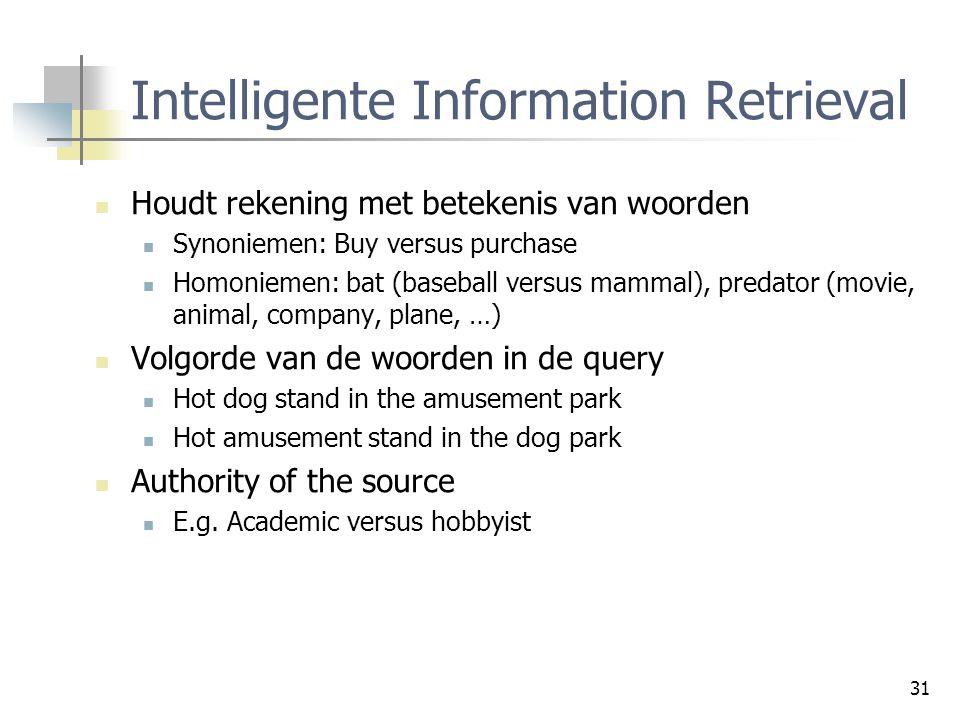 Intelligente Information Retrieval
