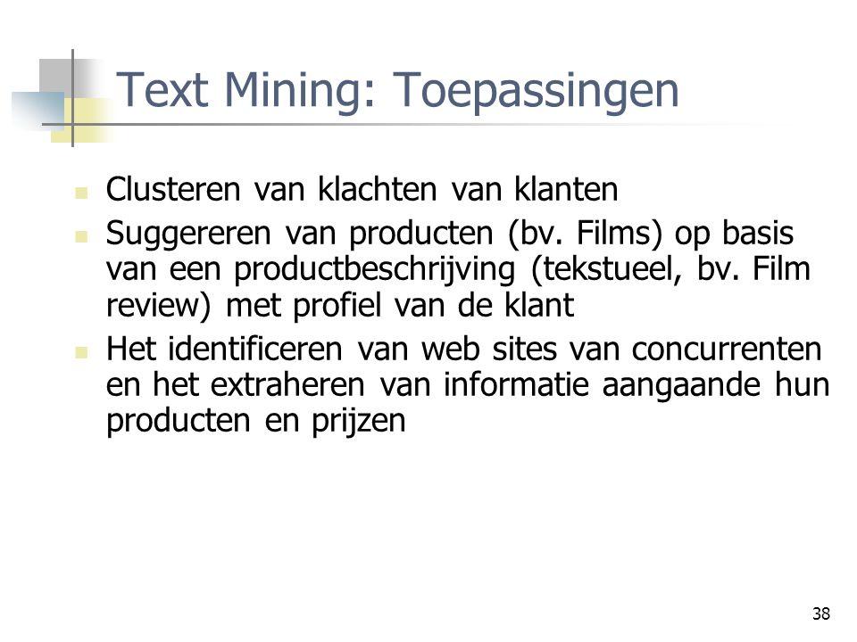 Text Mining: Toepassingen