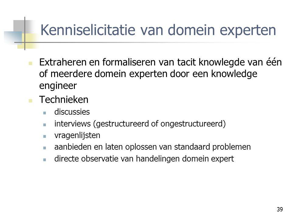 Kenniselicitatie van domein experten