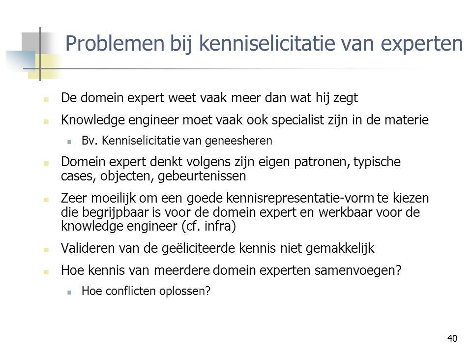 Problemen bij kenniselicitatie van experten