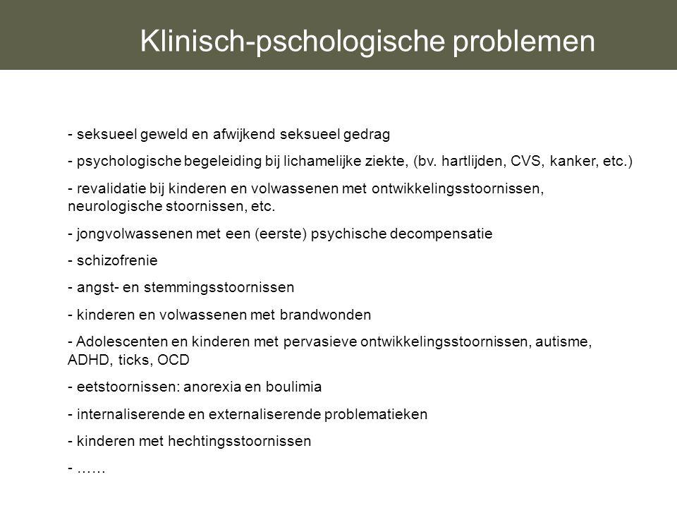 Klinisch-pschologische problemen