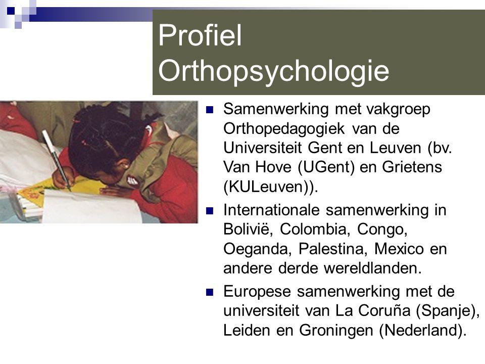 Profiel Orthopsychologie