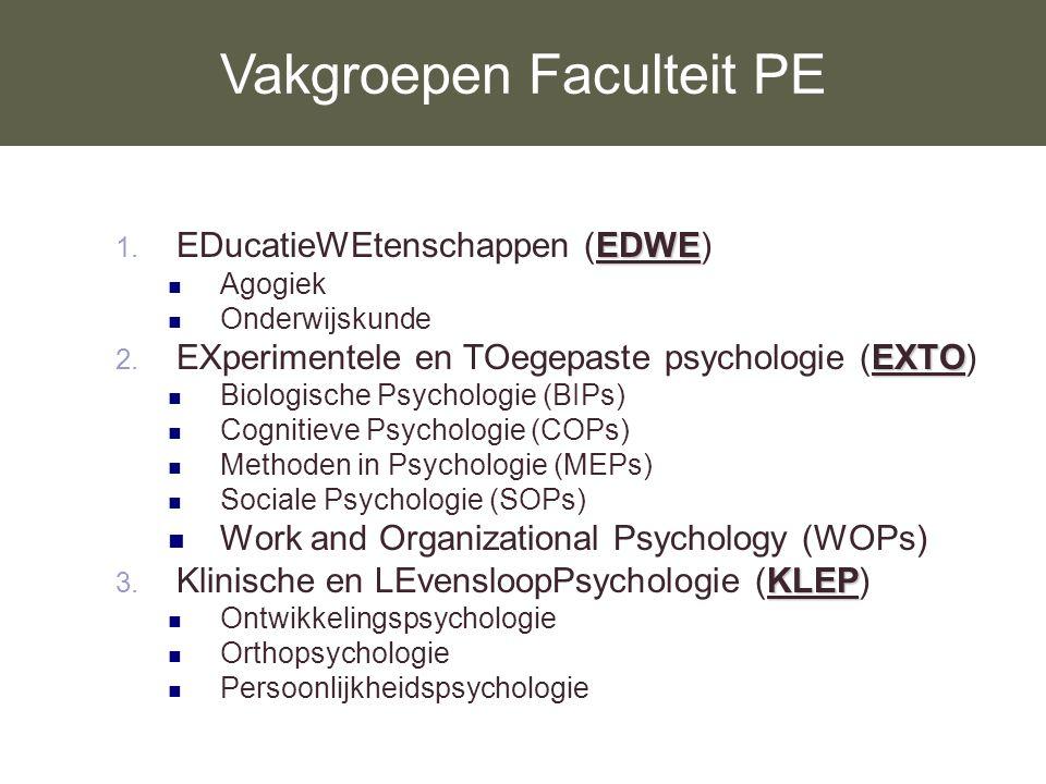 Vakgroepen Faculteit PE