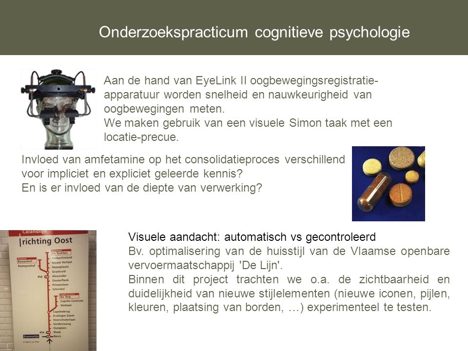Onderzoekspracticum cognitieve psychologie