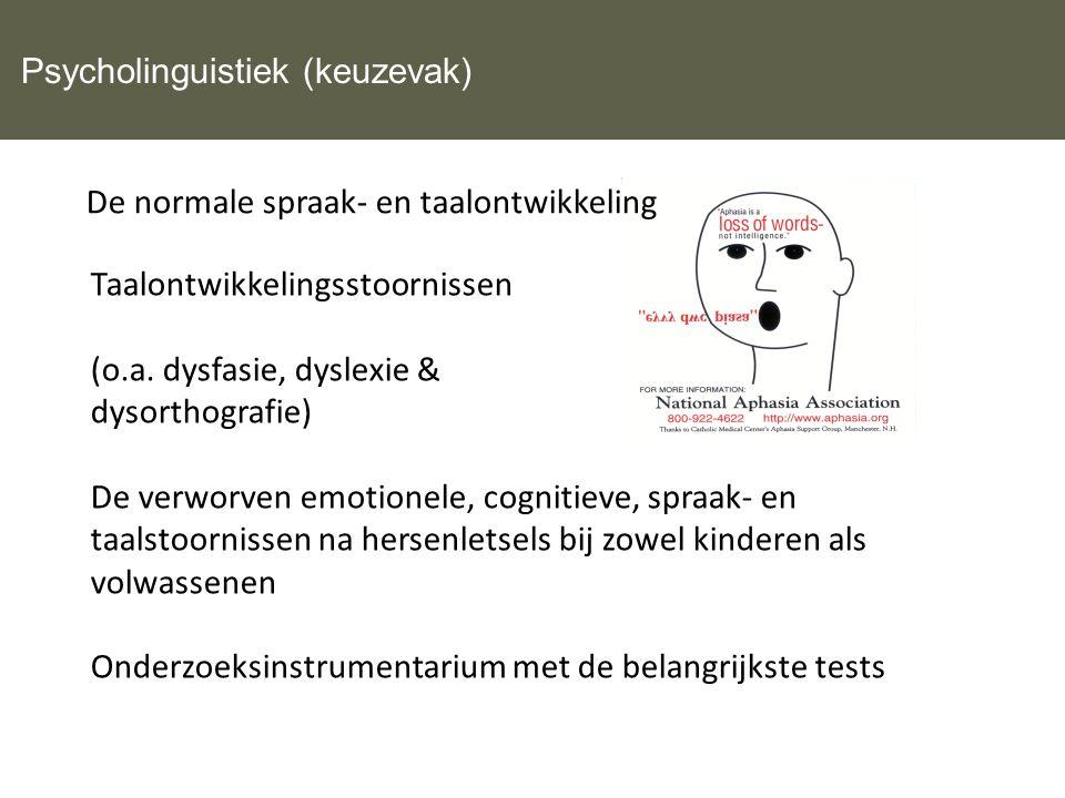 Psycholinguistiek (keuzevak)