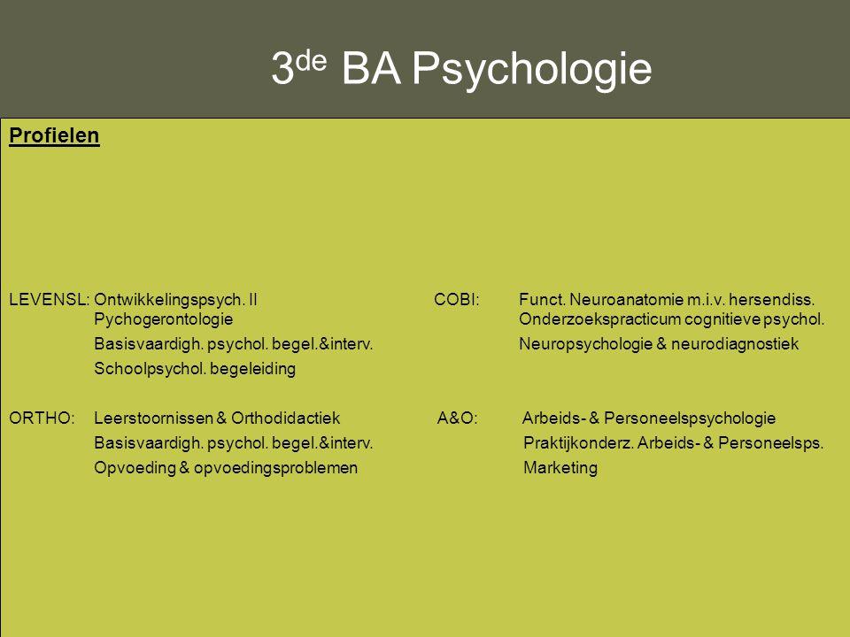 3de BA Psychologie Profielen