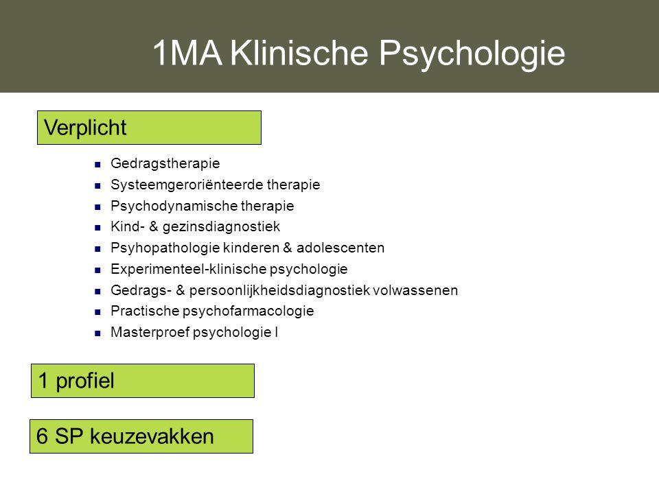 1MA Klinische Psychologie
