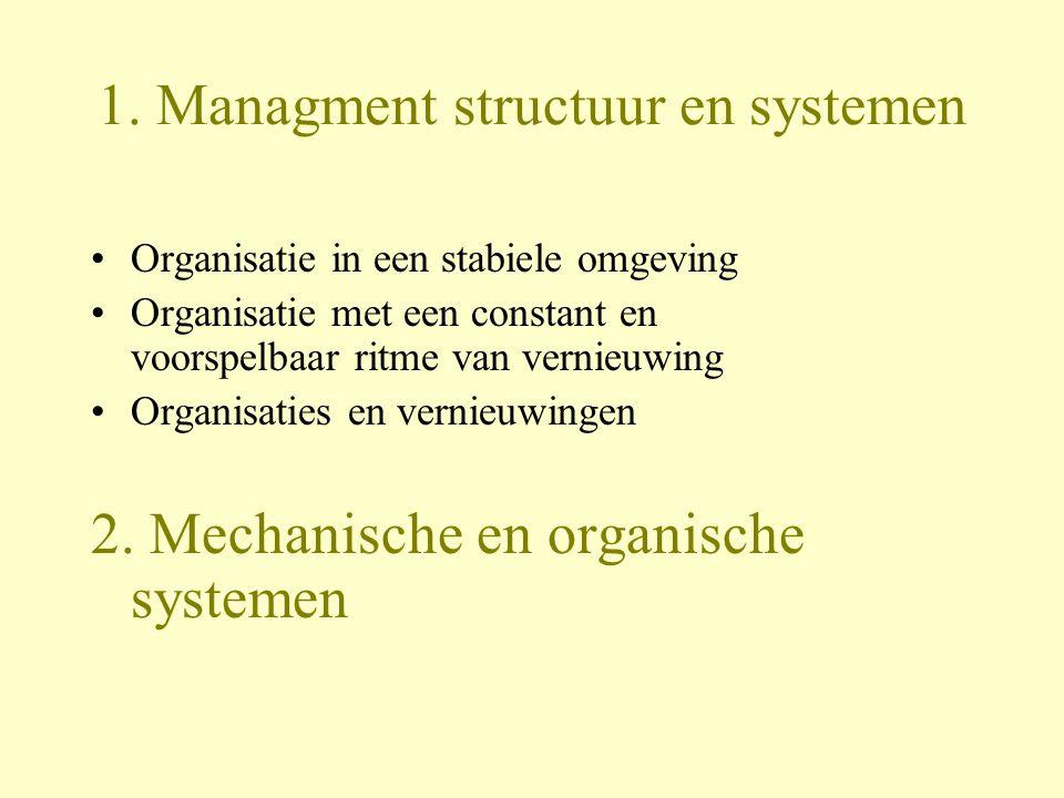 1. Managment structuur en systemen