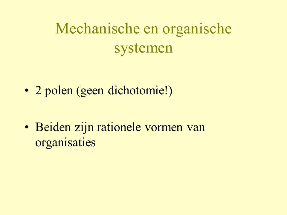 Mechanische en organische systemen