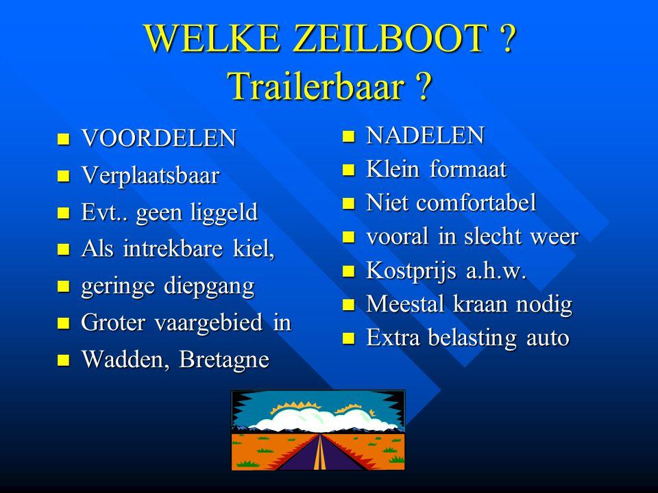 WELKE ZEILBOOT Trailerbaar