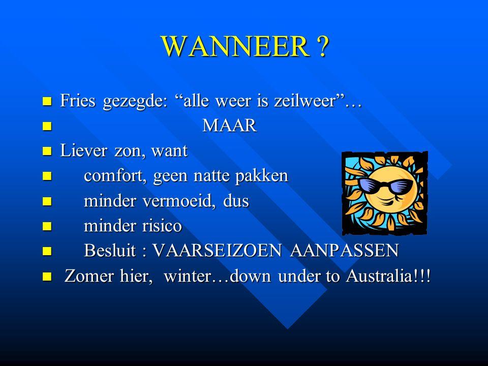 WANNEER Fries gezegde: alle weer is zeilweer … MAAR