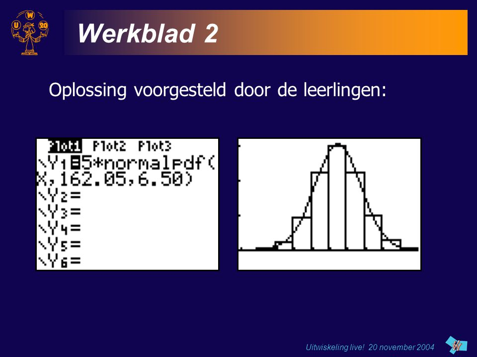 Werkblad 2 Oplossing voorgesteld door de leerlingen: