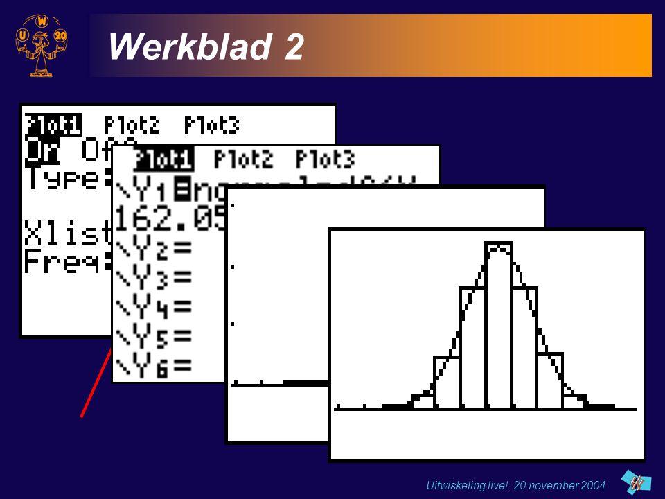 Werkblad 2 Uitwiskeling live! 20 november 2004