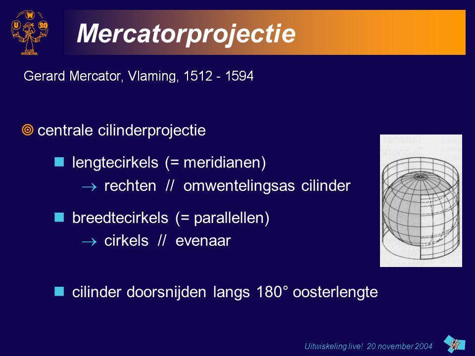 Mercatorprojectie centrale cilinderprojectie