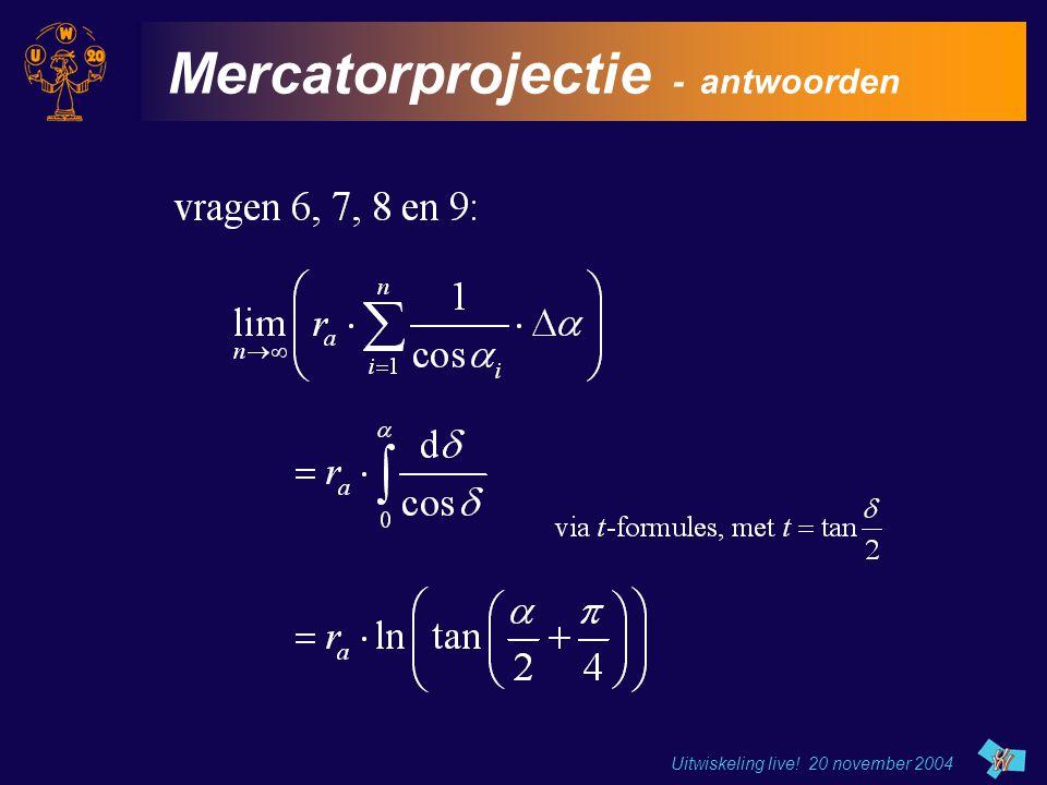 Mercatorprojectie - antwoorden