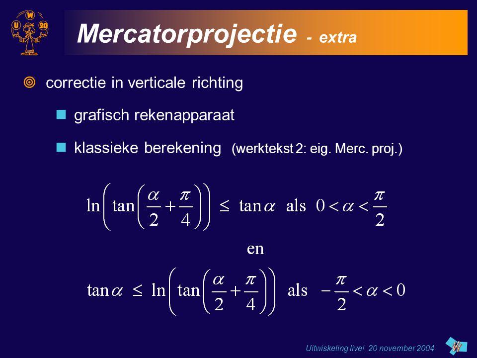 Mercatorprojectie - extra