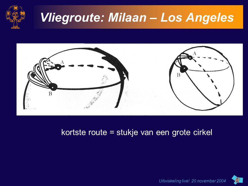Vliegroute: Milaan – Los Angeles