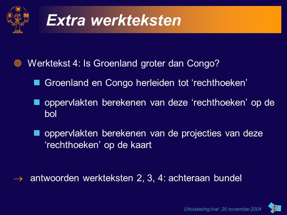 Extra werkteksten Werktekst 4: Is Groenland groter dan Congo