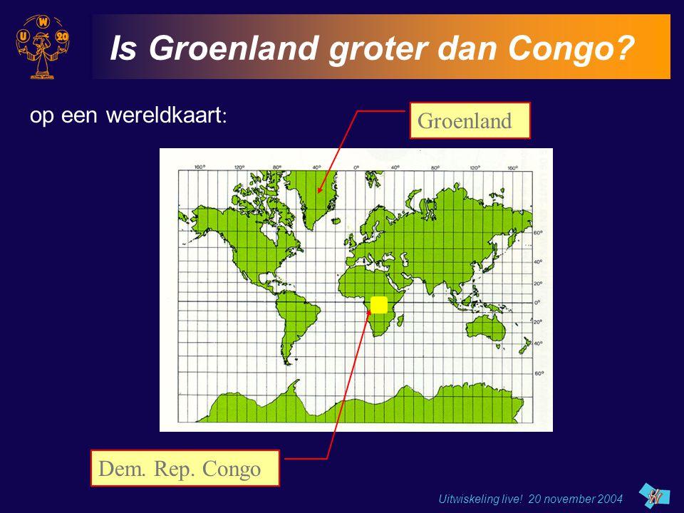 Is Groenland groter dan Congo