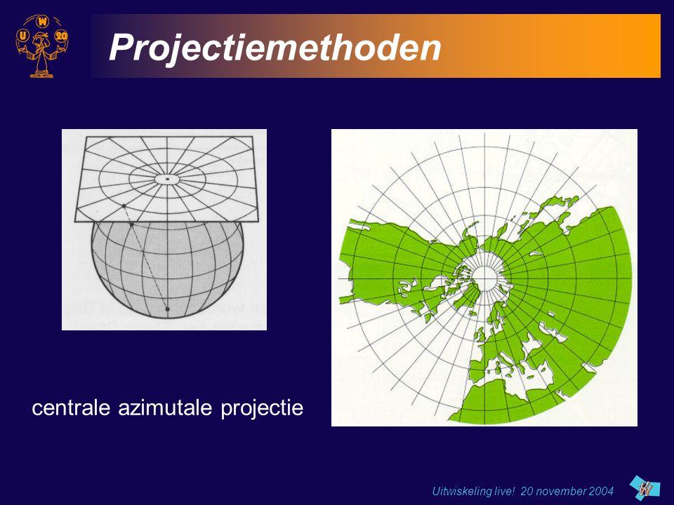 Projectiemethoden centrale azimutale projectie