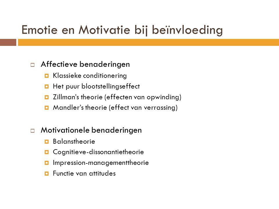 Emotie en Motivatie bij beïnvloeding