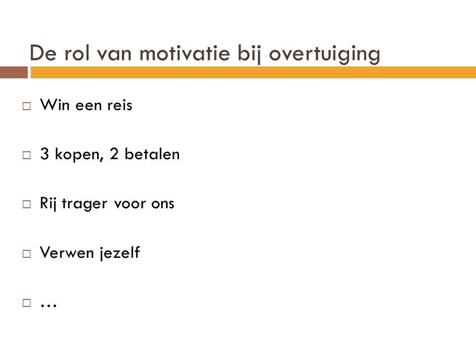 De rol van motivatie bij overtuiging