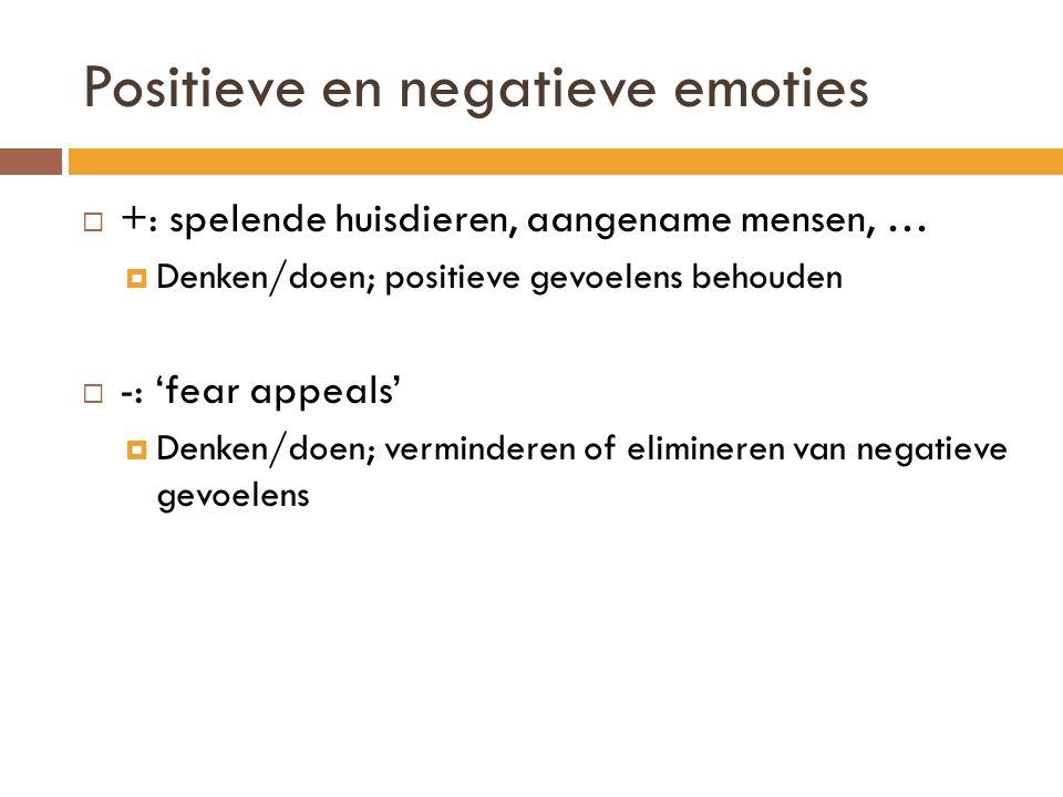 Positieve en negatieve emoties
