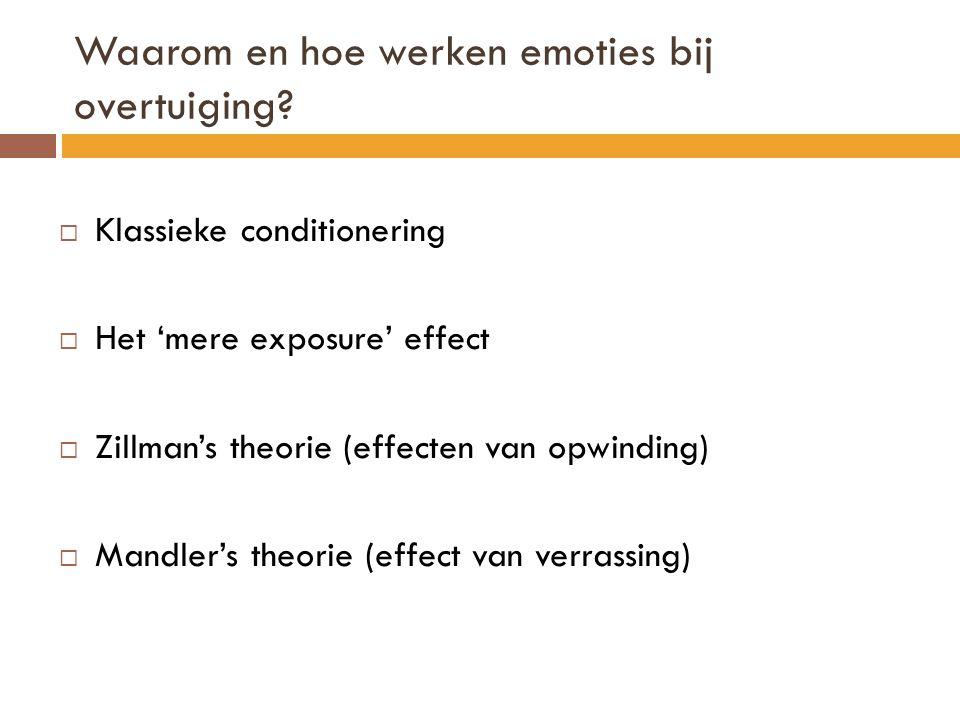 Waarom en hoe werken emoties bij overtuiging