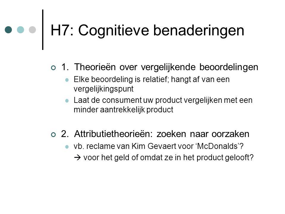 H7: Cognitieve benaderingen