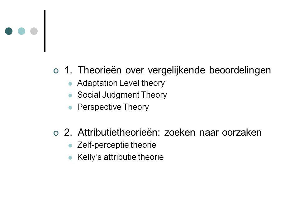 1. Theorieën over vergelijkende beoordelingen