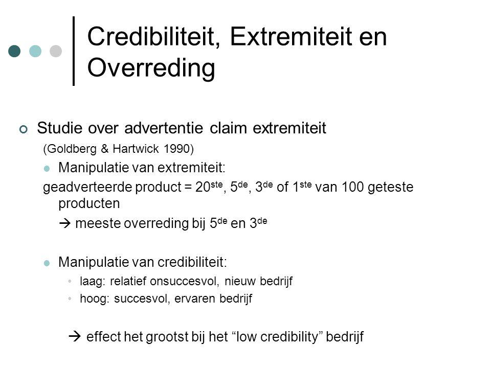 Credibiliteit, Extremiteit en Overreding