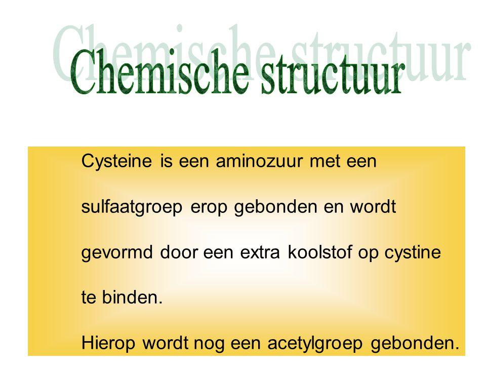 Chemische structuur sulfaatgroep erop gebonden en wordt