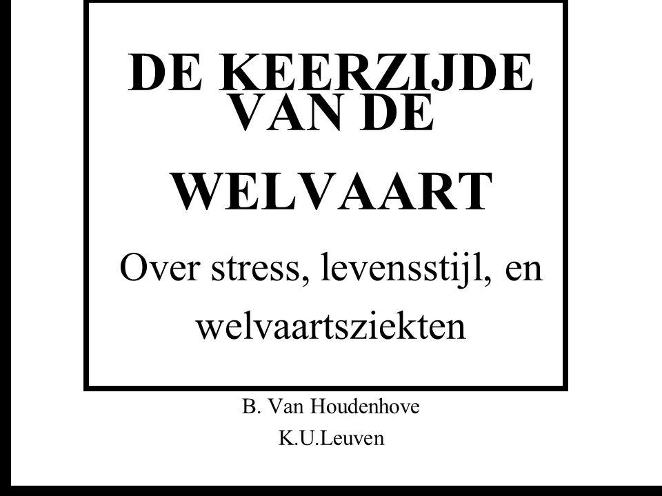 DE KEERZIJDE VAN DE WELVAART Over stress, levensstijl, en welvaartsziekten B. Van Houdenhove K.U.Leuven