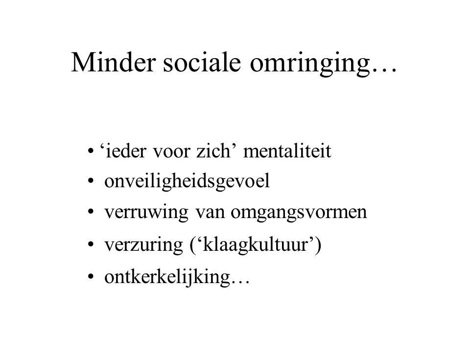 Minder sociale omringing…
