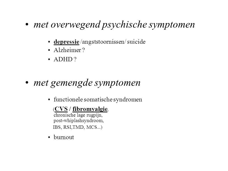 met overwegend psychische symptomen