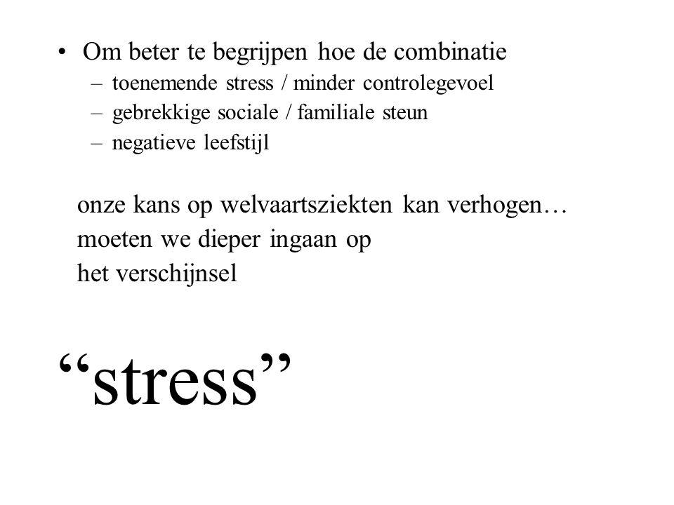 stress Om beter te begrijpen hoe de combinatie