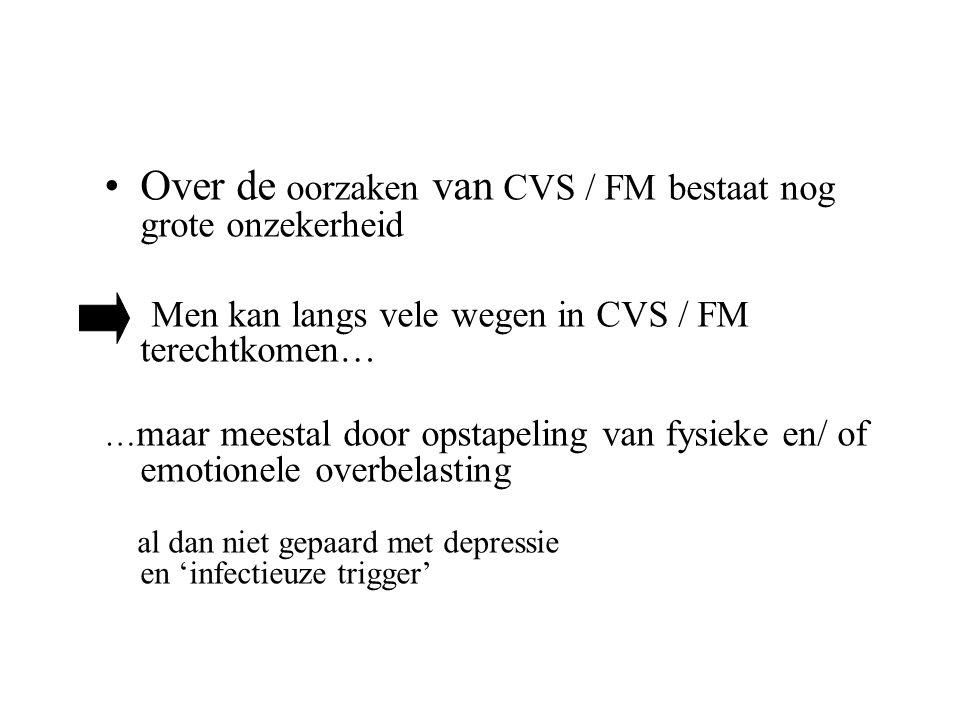 Over de oorzaken van CVS / FM bestaat nog grote onzekerheid